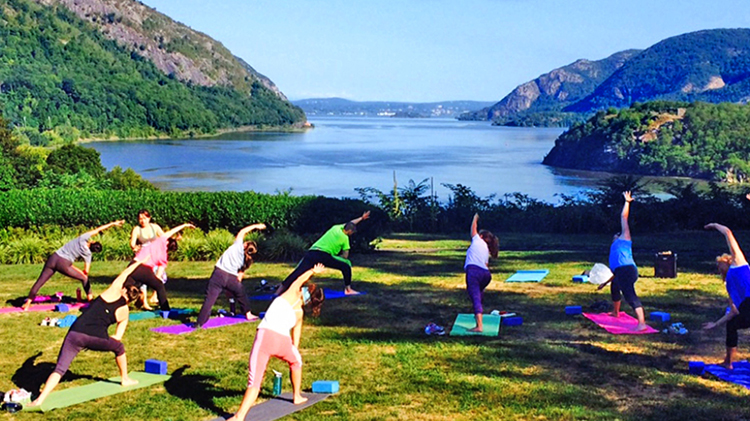 Yoga at Trophy Point