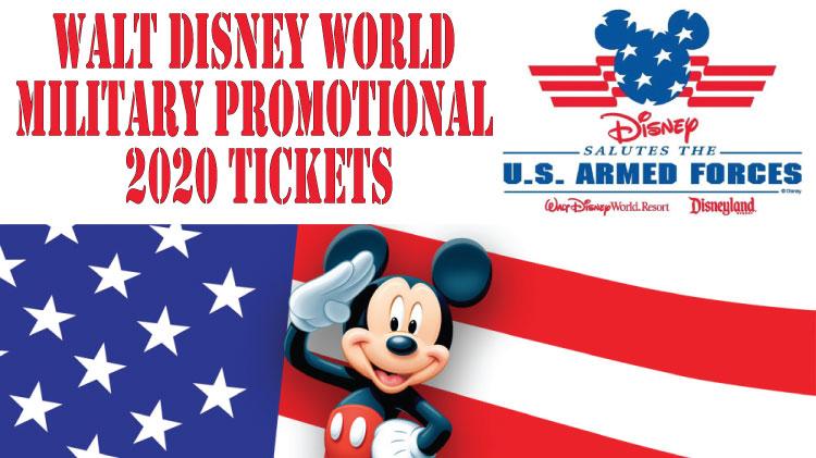 2020 Disney Military Salutes Promotion
