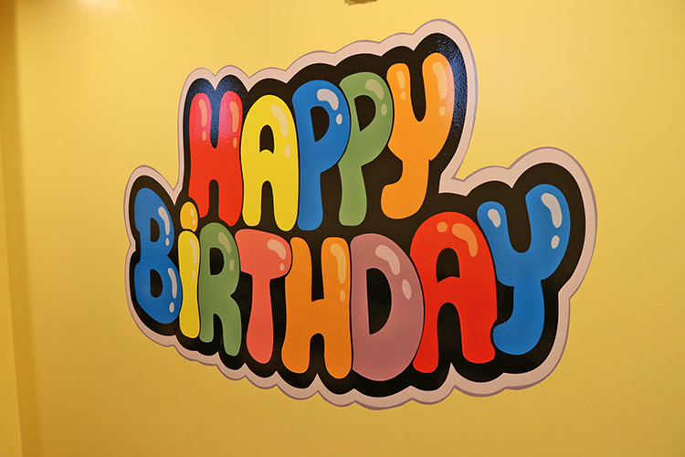 New Large Happy Birthday Wall Decal