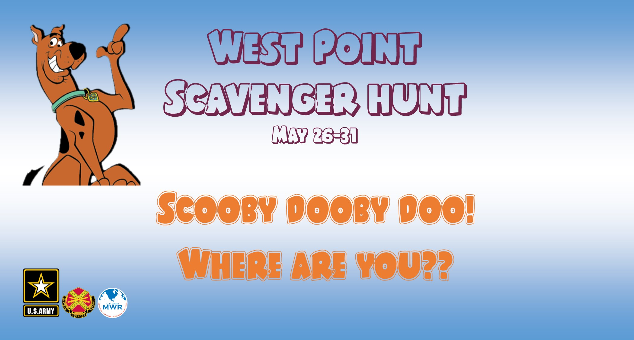 West Point Photo Scavenger Hunt (Where's Scooby?)