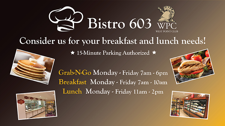 Bistro 603 at the West Point Club