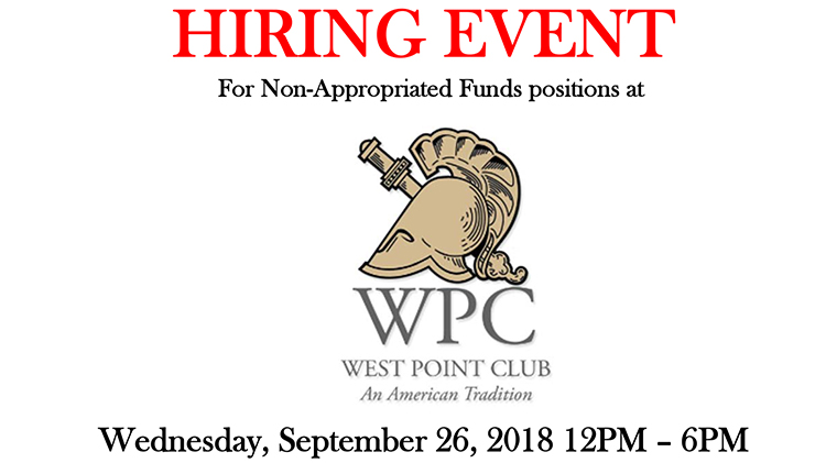 Hiring Event for the West Point Club!