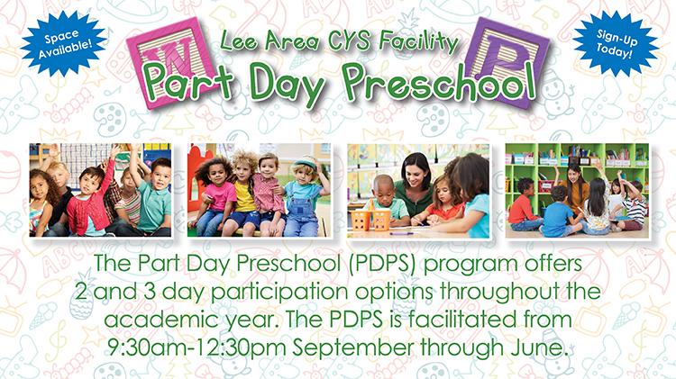 Lee Area CYS Facility Part Day Preschool