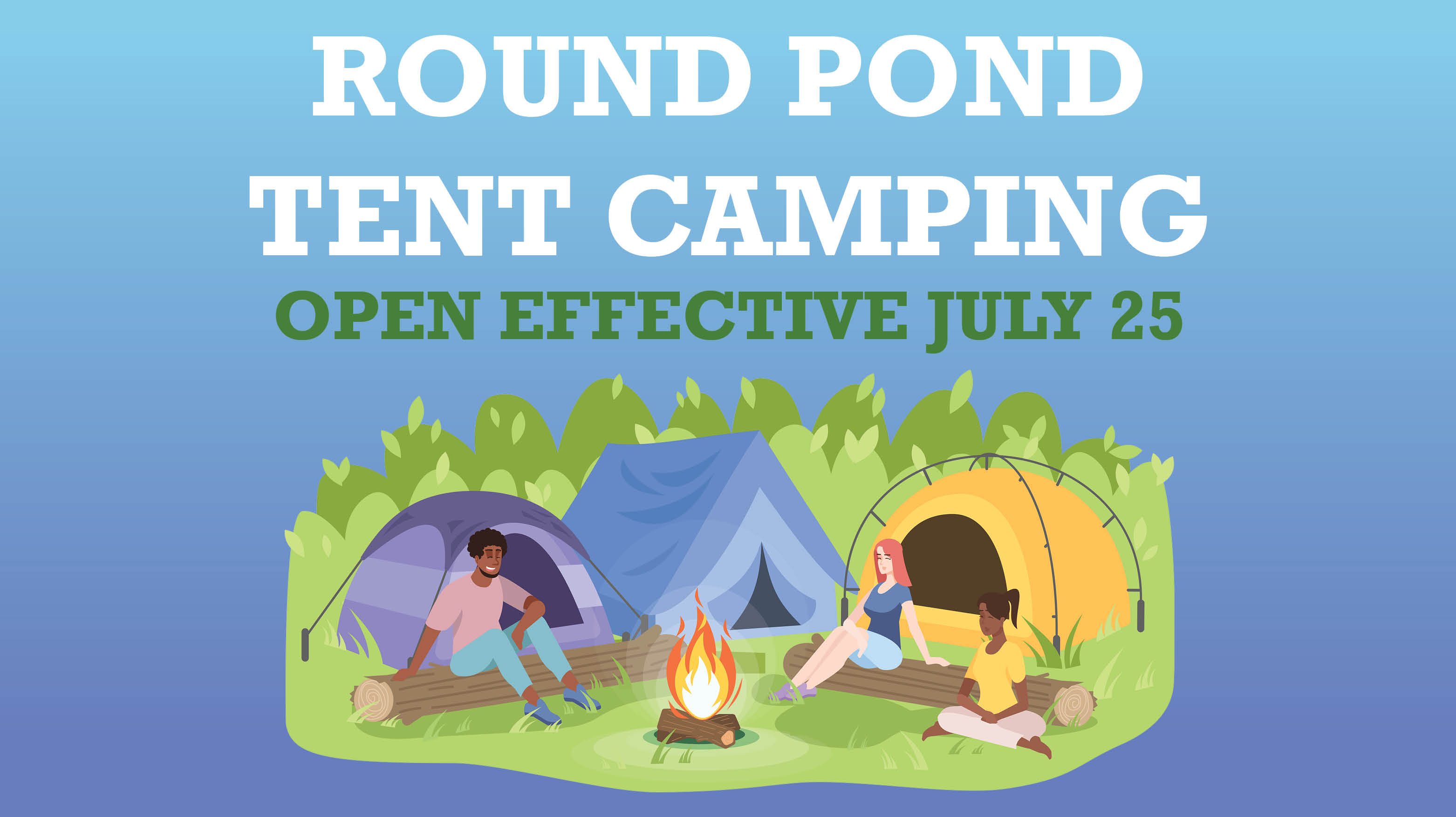 Round Pond Tent Camping & Swim Beach