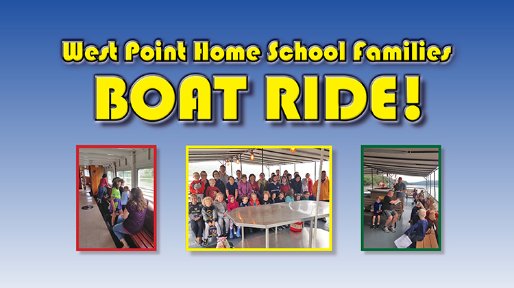 West Point Home School Families Boat Ride