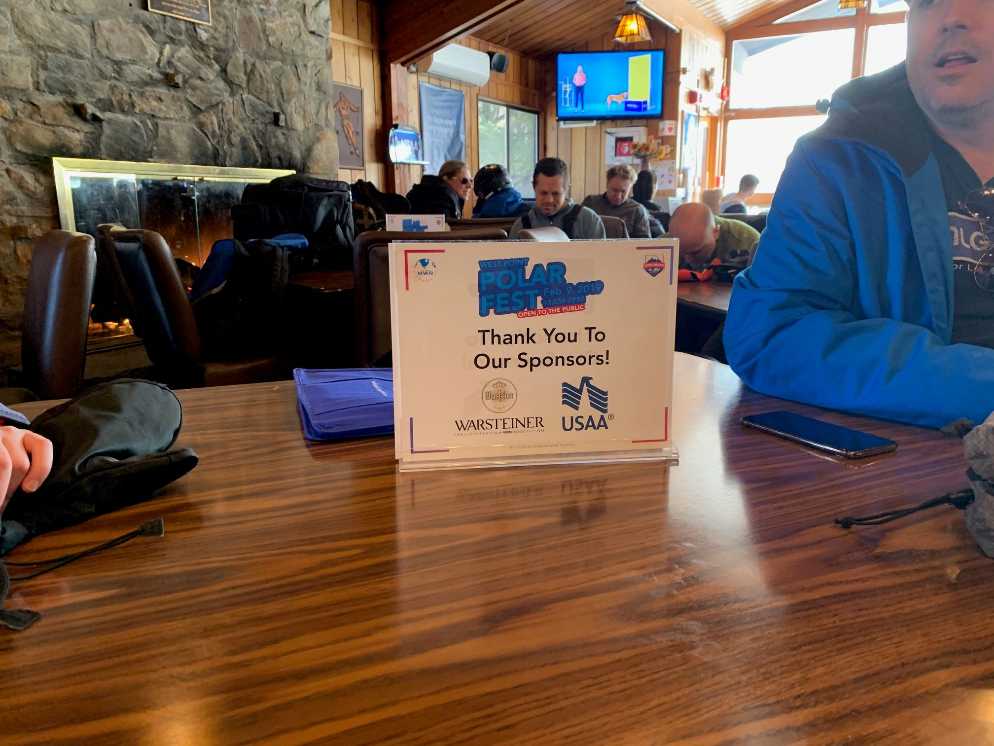 Table-Top Sponsor Recognition - Polar Fest